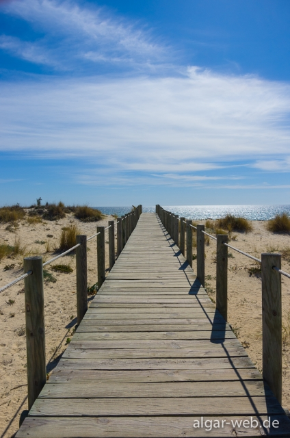Die letzten Meter zum Strand, Praia do Barril, Tavira, Algarve, Portugal