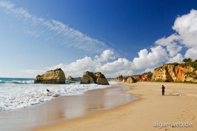 Praia da Rocha im Winter, Portimao, Algarve