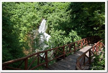 Wasserfall und üppiges Grün in Naoussa II