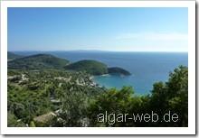 Blick von Arilla zum Arilla Beach