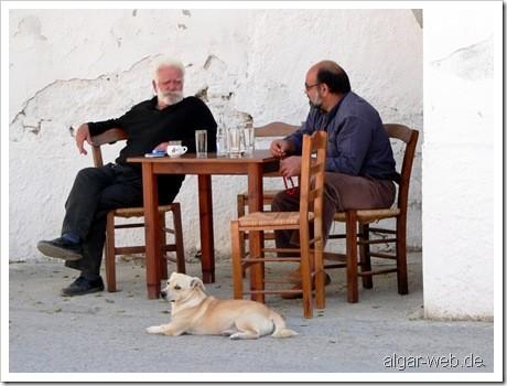 Alltag ohne Hektik, Kostas Kafenion, Pitsidia, Kreta