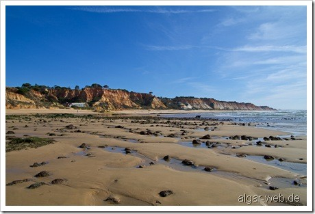 Praia da Falesia, Olhos d' Agua, Albufeira, Algarve; Januar/Februar 2010