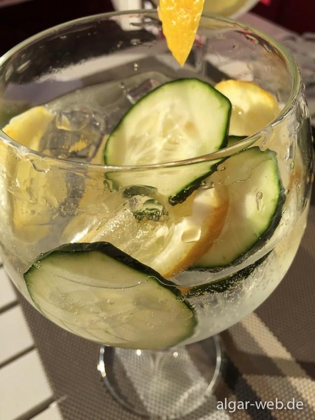 Der beste Gin Tonic der Welt, Pessoa's Cafe, Tavira, Algarve