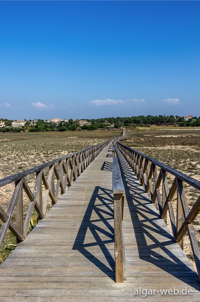 Blick zurück zum Festland, Ilha de Faro