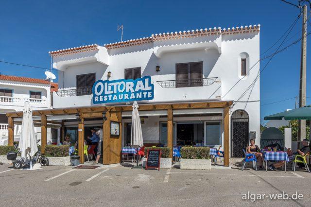 Restaurant O Litoral am östlichen Ortsende von Benagil