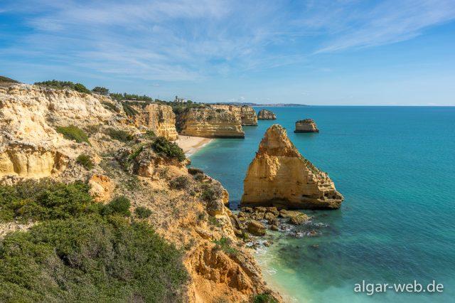 Blick auf den Praia da Marinha