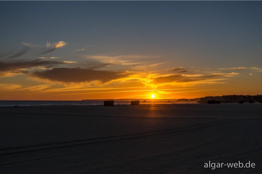 Sonnenuntergang, Praia da Rocha, Algarve, Portugal